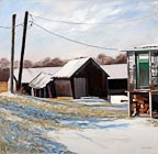 painting of sheds and barns